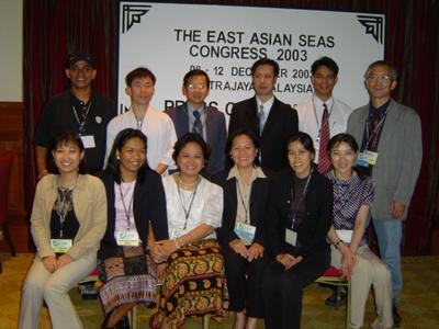 I and the APFEJ team covering the PEMSEA Congress.