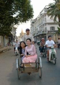 Mao Vy and me, on a cyclo.