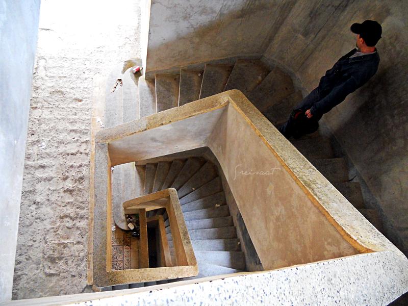 Stairs at Bokor Palace Hotel